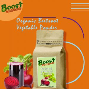 Organic beetroot vegetable powder