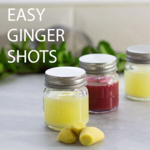 easy ginger shots with time saving smoothie ingredients