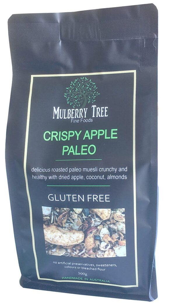 Crispy Apple Paleo - GLUTEN FREE Granola 500g