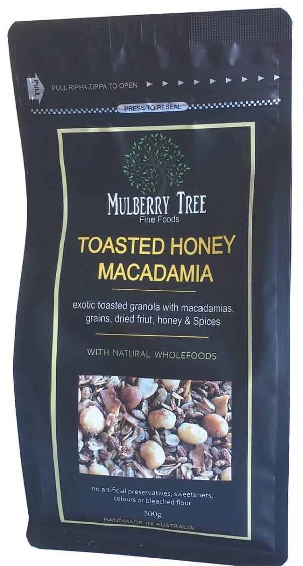 Toasted Honey & Macadamia Granola 500g Mulberry Tree